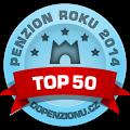 Zařízení patří mezi TOP 50 penzionů v anketě Penzion roku 2014