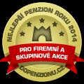 Zařízení získalo ocenění Nejlepší penzion roku 2014 pro firemní akce
