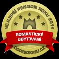 Zařízení získalo ocenění Nejlepší romantický penzion roku 2014