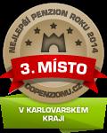 Zařízení získalo ocenění 3. Nejlepší                                     penzion roku 2014 v Karlovarském kraji  v anketě Penzion roku 2014