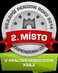 Zařízení získalo ocenění 2. Nejlepší penzion roku 2014 v Královéhradeckém kraji v anketě Penzion roku 2014