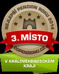 Zařízení získalo ocenění 3. Nejlepší penzion roku 2014 v Královéhradeckém kraji v anketě Penzion roku 2014