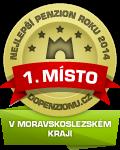 Zařízení získalo ocenění Nejlepší penzion roku 2014 v Moravskoslezskémkraji v anketě Penzion roku 2014
