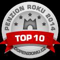 Zařízení patří mezi TOP 10 penzionů v anketě Penzion roku 2014