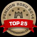 Zařízení patří mezi TOP 25 penzionů v anketě Penzion roku 2014